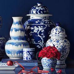 Porcelain Lidded Temple Jar | Williams-Sonoma