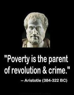 Aristotle a speech on poverty maybe show a picture of Detroit and ask the class where they think this picture was taken then inform them it's Detroit