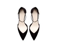 ZARA - NEW THIS WEEK - BASIC POINTY SHOES WITH ANKLE STRAP