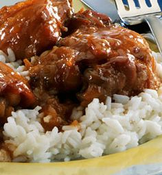 Polynesian Chicken: made with thousand island dressing, orange marmalade and onion soup mix.  Sounds interesting...