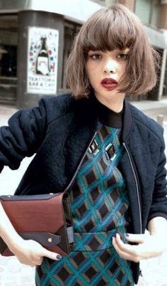 Tina Tamashiro #bob #haircut #hairstyle