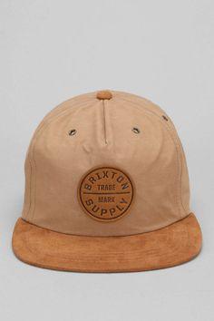 Brixton Oath Suede Brim Baseball Hat