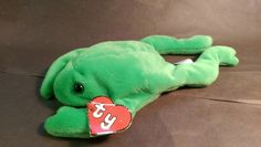 Original TY Beanie Baby Legs the Frog Vintage $155 https://www.etsy.com/listing/221217165/ty-beanie-baby-legs-1993-1st-genaration