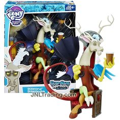 Hasbro Year 2015 My Little Pony Friendship Magic Guardians of Harmony Series 9 Inch Tall Figure - DISCORD Sitting On Chair with Cup and Umbrella
