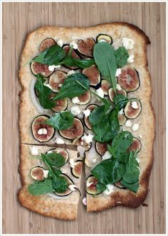 Fig, Goat Cheese & Arugula Flatbread