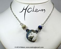 Horse Necklace Horse Necklace, Glass Jewelry, Glass Art, Creatures, Horses, Sculpture, Artist, Silver, Money