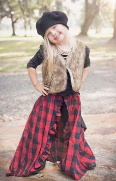 2015 Fall Jak & Peppar Gladiator Faux Fur Vest 4 Years ONLY (Girls Clothing 2015 Fall Jak & Peppar Gladiator Vest. Dress Outfits, Girl Outfits, Girls Christmas Dresses, Mommy And Me Outfits, Only Girl, Faux Fur Vests, Cassie, Daughter, Hipster