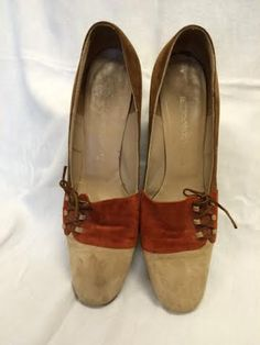 936031cf088f Vintage Florsheim Mad Men Brown tan   Orange by Retro360Vintage. Size 10.   65 with free shipping.