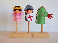 Items similar to Finger puppets. Set of five felt finger puppets. on Etsy