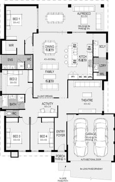 Plan dream house plans, small house plans, house floor plans, small house d House Layout Plans, New House Plans, Dream House Plans, House Layouts, House Floor Plans, Floor Plan Layout, 2 Storey House Design, Home Design Floor Plans, Modern Floor Plans