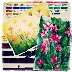 Сегодня был такой дурацкий день, что хочется перевернуть его как можно скорее. Нарисовалось два новых скетча. Продаются. #ArtBySilmairel #MyArt #Art #Watercolor #Sketch #Nature #Flowers #Dandelions