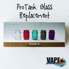 Replacement glass tank for Kanger ProTank 2 or ProTank 3 clearomizer. These are also compatible with the Aerotank. Product is one glass tube only.  Available in clear, smoke, light red and light purple  *All hardware sales are final.