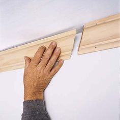 Installing Crown Molding home-inside Crown Molding Modern, Cut Crown Molding, Just In Case, Just For You, Diy Gifts For Kids, Trim Work, Moldings And Trim, Home Upgrades, Do It Yourself Projects