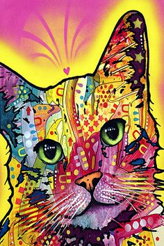 Tilt Cat By Dean Russo Canvas Print #4213