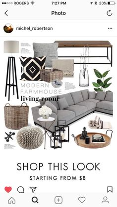 A home decor collage from September 2016 by emmy featuring interior interiors interior design home home decor interior decorating Arteriors Heathfield amp; New Living Room, Living Room Modern, Living Room Designs, Small Living, Modern Farmhouse Living Room Decor, Gray Living Room Decor Ideas, Gray Couch Decor, Gray Couch Living Room, Target Living Room