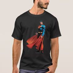 Shop Superman Looks Front T-Shirt created by superman. Personalize it with photos & text or purchase as is! Black Superman, Superman Shirt, Superman Logo, T Shirt Diy, Tshirt Colors, Fitness Models, T Shirts For Women, Casual, Mens Tops