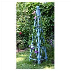 Blue obelisk; I like blue garden accents