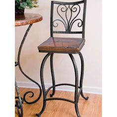 Alexander Wrought Iron Counter Stool By Mathews Company