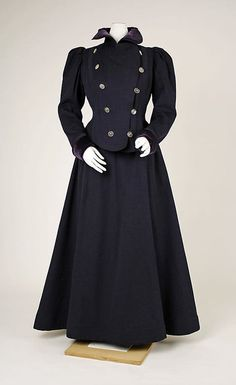 Suit Made Of Wool And Velvet - French   c.1897-1899  The Metropolitan Museum of Art
