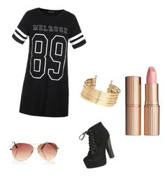 """""""Street vibe"""" by shaye1z ❤ liked on Polyvore featuring interior, interiors, interior design, home, home decor, interior decorating, Ally Fashion, Breckelle's, H&M and Charlotte Tilbury"""