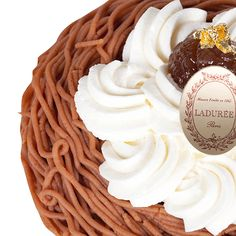 Ladurée Mont Blanc | Diaphanous meringue topped with chestnut cream and whipped cream.