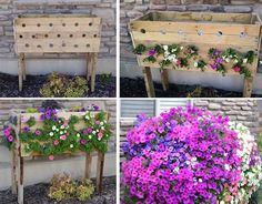 Beautiful cascading flower box! I'd love to have one of these -