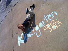 First day of kindergarten. (My Son Korbin)