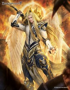 Angel of Love Dark Fantasy Art, Fantasy Art Angels, Fantasy Artwork, Male Angels, Angels And Demons, Angel Warrior, Fantasy Warrior, Fantasy Character Design, Character Art