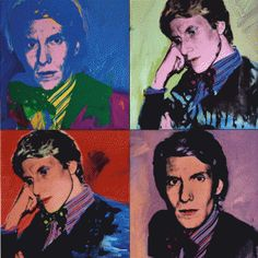 Yves Saint Laurent multicolorisé par Andy Warhol