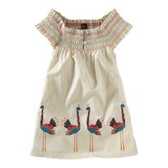 Ostrich Smocked Mini Dress