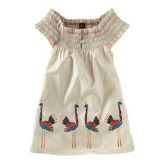 Ostrich Smocked Mini Dress|| Boden