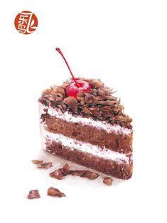 choc. cherry slice of cake