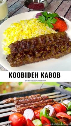 Middle East Food, Middle Eastern Recipes, Middle Eastern Rice, Iranian Cuisine, Iranian Food, Beef Kabob Recipes, Indian Food Recipes, Persian Food Recipes, Sausages