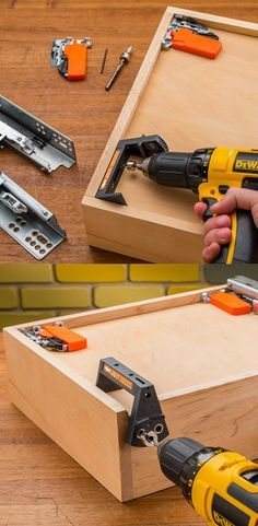 Lets you quickly and precisely drill all holes required to install Blum Tandem undermount drawer slides onto your drawer boxes.