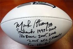 Mack Strong AutographedHand Signed Seattle Seahawks Logo Football Go Hawks MCS Holo Stock 980 *** Read more reviews of the product by visiting the link on the image.