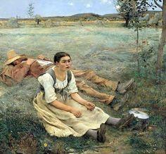 Haymaking - Jules Bastien-Lepage (1848-84)