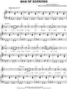"""Hillsong """"Man of Sorrows"""" Sheet Music - Download & Print"""