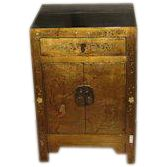 Beautiful Small Chinese Antique Gilt Chest