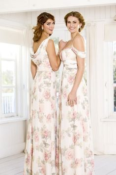 Spring inspired florals, soft and pretty, exclusive to True Bride. Boho inspired, blossom pinks with sage greens and flattering silhouettes ♥️