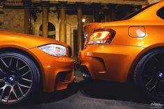 Bumper to bumper,BMW orange coupe. E60 Bmw, Bmw Alpina, Porsche, Audi, Ford Raptor, G Wagon, 1m Coupe, Mercedes Benz, Volkswagen