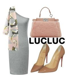 """Untitled #2499"" by fiirework ❤ liked on Polyvore featuring Christian Louboutin and Fendi"