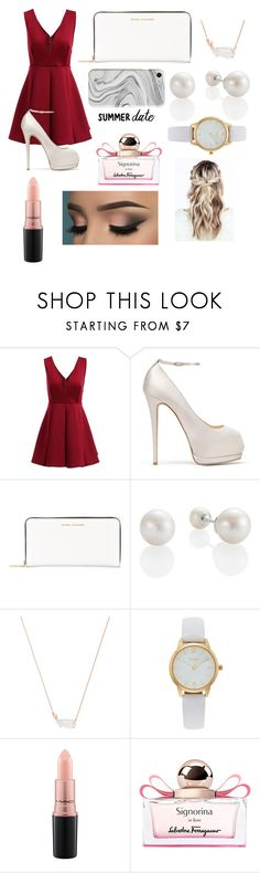 """""""Rooftop Bar"""" by anna-m2233 ❤ liked on Polyvore featuring Giuseppe Zanotti, Marc Jacobs, Kendra Scott, Vivani, MAC Cosmetics, Salvatore Ferragamo and Recover"""