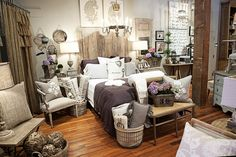 FOUND by domestic bliss: the shop  what a beautiful bedroom shop setup