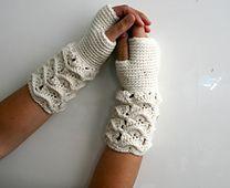 Ravelry: Crochet pattern lace fingerless gloves 183 pattern by Luz Mendoza