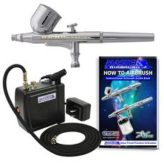 Now the Genie will be soooo blue!Multi-purpose Airbrush Kit with Mini Compressor, Dual-action Gravity Feed Airbrush and Air Hose Master Airbrush http://www.amazon.com/dp/B004PJLU4M/ref=cm_sw_r_pi_dp_6dDdub1BT1RMA