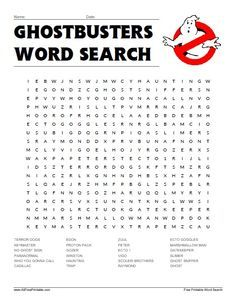Ghostbusters Word Search if I can find the resources to print Halloween Words, Halloween Party, Halloween Games, Happy Halloween, 6th Birthday Parties, Boy Birthday, Birthday Ideas, Party Printables, Free Printables
