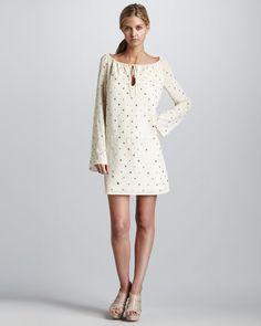 Mirrored Peasant Dress (Haute Hippie)