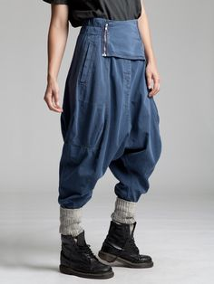 Very Low Croth Pant with a Rubber Band in Waist by LURDES BERGADA