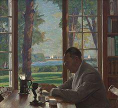 Daniel Garber, 'Portrait of Hervey Allen,' 1935, Hollis Taggart Galleries