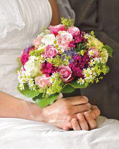 Brautsträuße mehrfarbig - Bildergalerie mit einer Auswahl der schönsten Brautsträusse in leuchtend bunten Farbtönen.